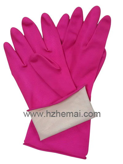 pink Household latex glove