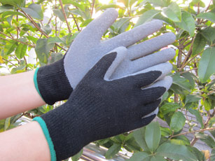 Thermal latex dipped palm glove T/C shell
