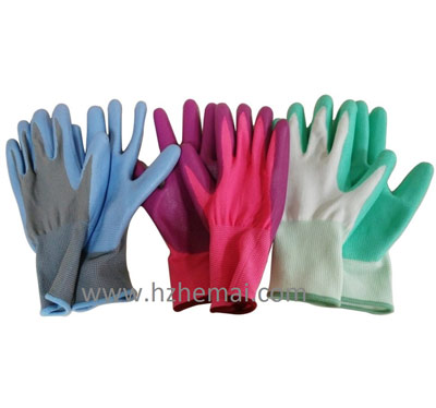Fashion lady nitrile gardening work glove