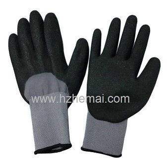 Half coated nitrile sandy glove