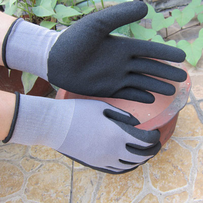 Sandy Finish Palm Coating Glove
