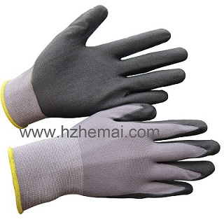 Ultra thin nitrile glove 15g nylon&spandex