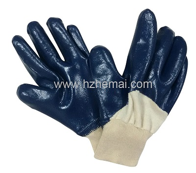 Blue Nitrile 3/4 dipped glove