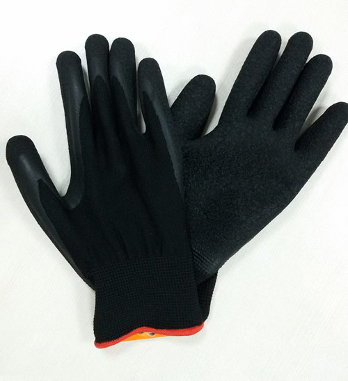 13 gauge polyester latex palm coated glove