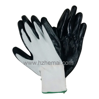 13G Polyster Coated NBR Glove