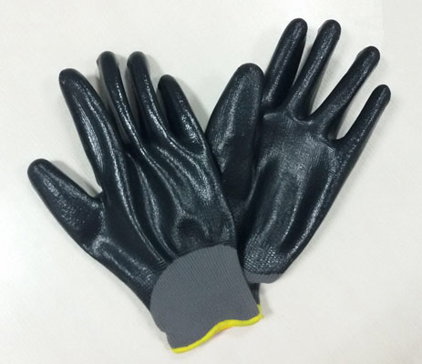 Nylon with Nitrile coated glove