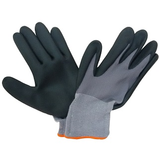 Ultra thin Nitrile foam coated work glove